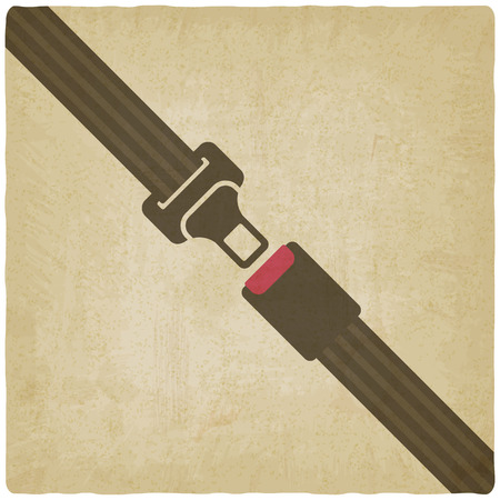 seatbelt: safety belt old background - vector illustration. Illustration