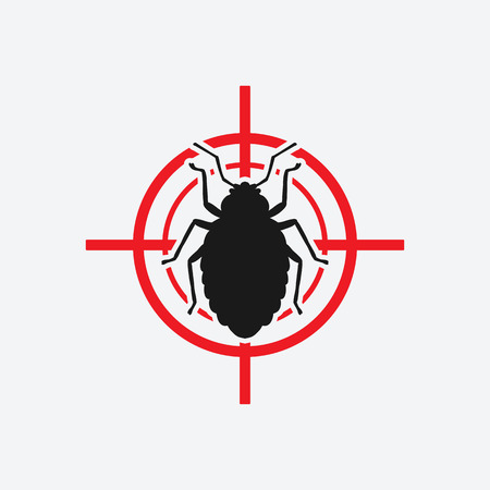 Bug-Symbol rot Ziel - Vektor-Illustration. Vektorgrafik
