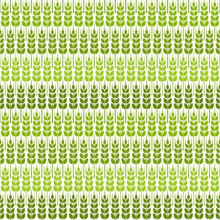 grain fields: green wheat seamless pattern. vector illustration - eps 8 Illustration