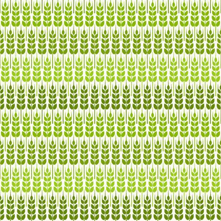 green wheat: green wheat seamless pattern. vector illustration - eps 8 Illustration