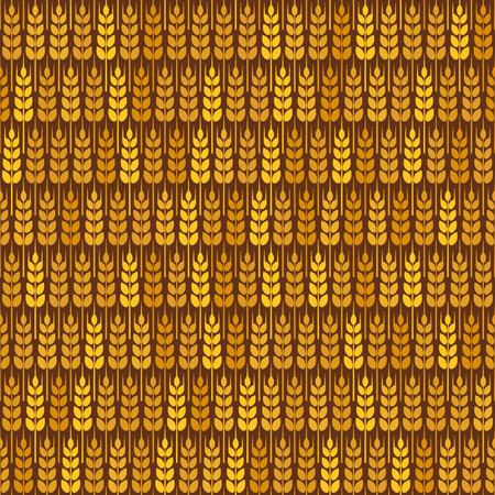 grain fields: Golden wheat seamless pattern. vector illustration - eps 8 Illustration
