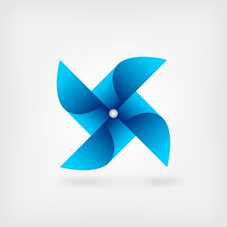 blue pinwheel symbol. vector illustration - eps 10