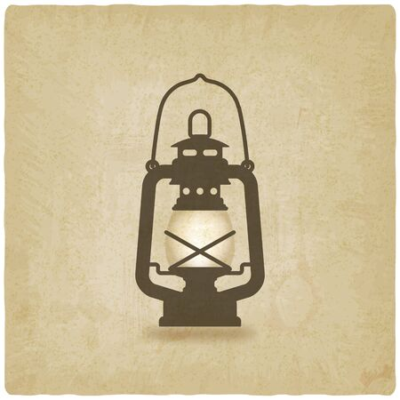 lantern: oil lantern old background