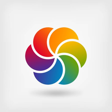 color spectrum: Colored abstract circle symbol