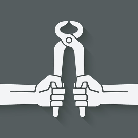 pincers: worker hands with pincers