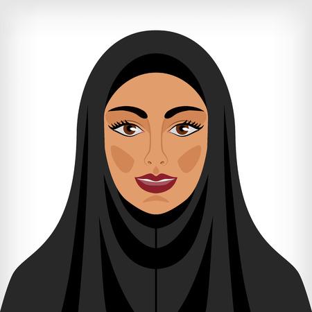 Moslim vrouw in Chador. Vector illustratie