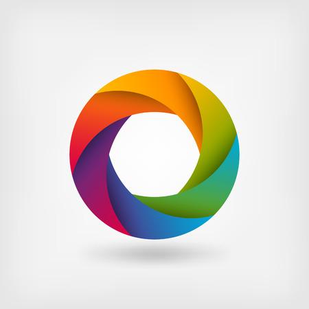 rainbow colours: rainbow color circle logo template.