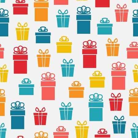 gift pattern: festive bright gift box seamless pattern.
