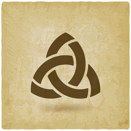 triquetra simbolo vecchio sfondo.