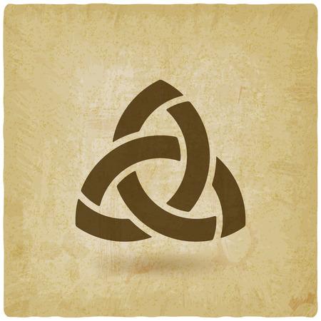 triquetra symbol old background.