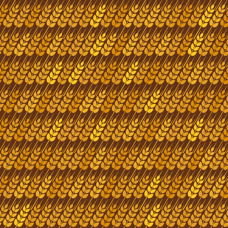 grain fields: Golden diagonal wheat seamless pattern.
