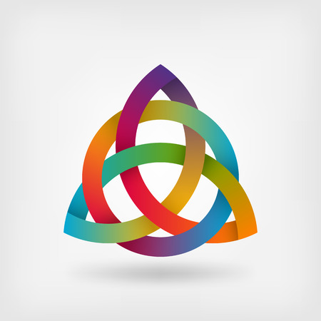 spirits: triquetra symbol in rainbow colors. vector illustration - eps 10