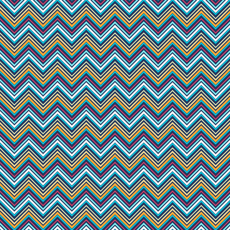 vintage wave: vivid zigzag geometric seamless pattern. vector illustration - eps 8