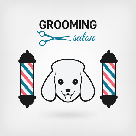 pet grooming salon logo design. vector illustration - eps 10  イラスト・ベクター素材