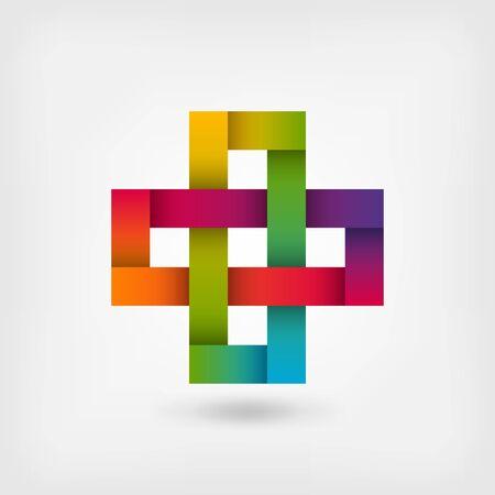 forme: N?ud solomon en couleurs arc-en-ciel. Illustration vectorielle - eps 10 Illustration