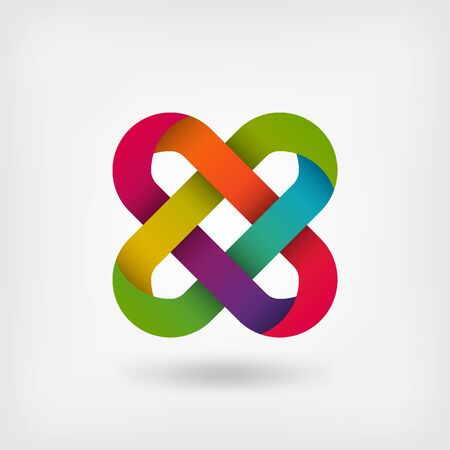 solomon knot in rainbow colors. vector illustration - eps 10