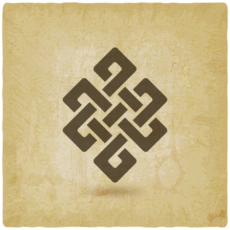 Shrivatsa endless knot vintage background. vector illustration - eps 10