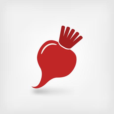 red bell pepper symbol. vector illustration - eps 10