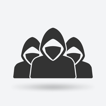 Army of anonymous concept. vector illustration