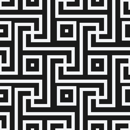 geometric black and white seamless pattern in antique roman style. vector illustration - eps 8