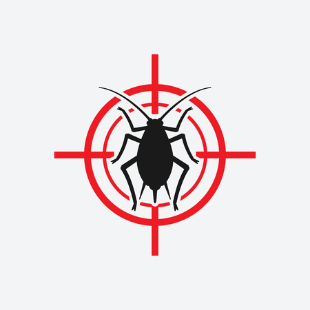 aphid icon red targetl. vector illustration - eps 8
