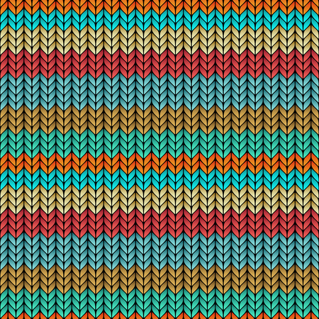 multicolor striped knitted seamless pattern.