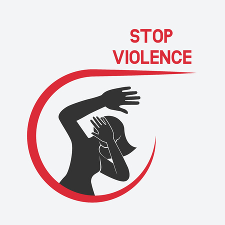 stop violence against women poster vector illustration