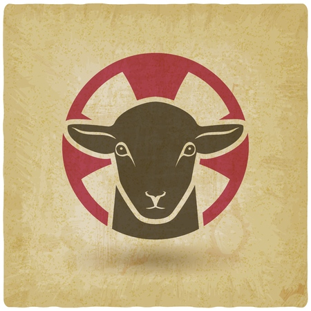 lamb of god vintage background. vector illustration -