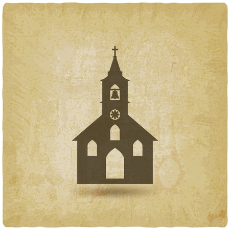 Christian Church vintage background.