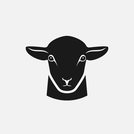 head of sheep silhouette. vector illustration 向量圖像