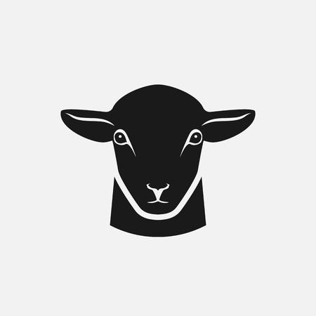 head of sheep silhouette. vector illustration Illustration