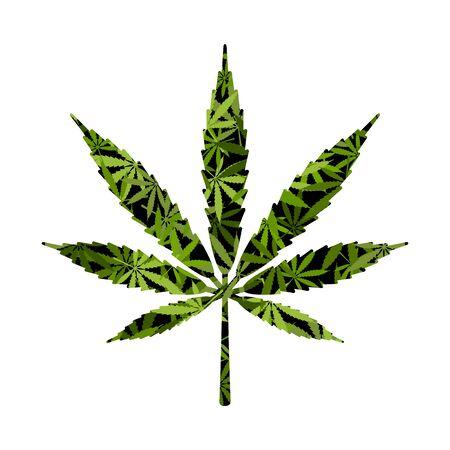 Cut silhouette Cannabis marijuana background Çizim
