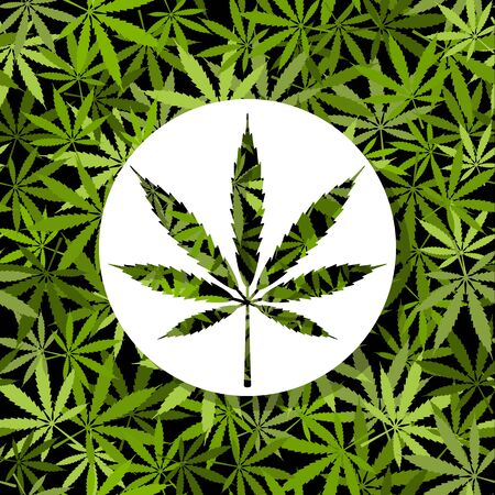 Icon sign on Cannabis marijuana background
