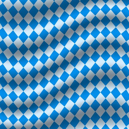 Oktoberfest blue checkered flag background. vector illustration Ilustração