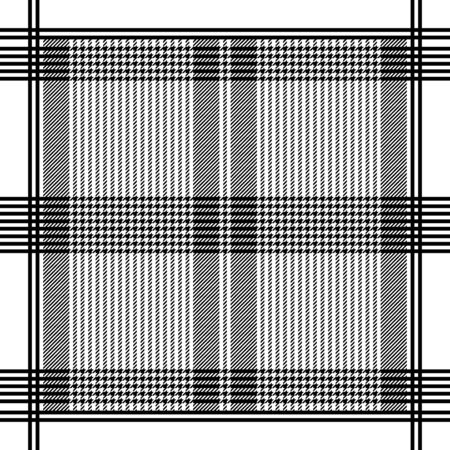 Black and white geometric striped headscarf pattern. Vector illustration