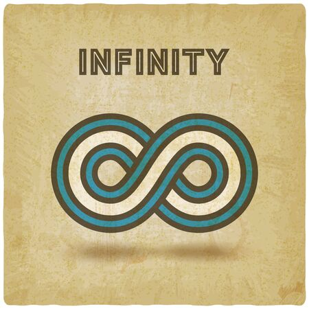 Infinity abstract sign design element vintage background. Vector illustration