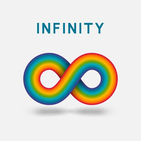 Infinity abstract sign design element. Vector illustration