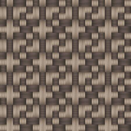 Decorative weave fabric seamless pattern. Vector illustration