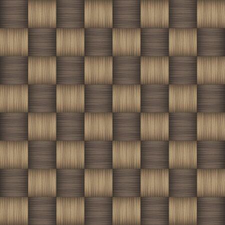 Plain weave fabric seamless pattern. Vector illustration Çizim
