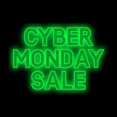 Cyber Monday Sale promotion banner. Vector illustration 일러스트