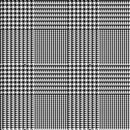 Glen check black and white checkered seamless pattern. Vector illustration