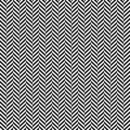 Black and white herringbone tweed seamless pattern. Vector illustration