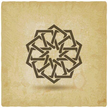 Arabic geometric circular pattern vintage background. Vector illustration 向量圖像