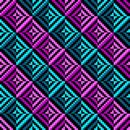 Geometric color rhombus seamless pattern. Vector illustration 일러스트