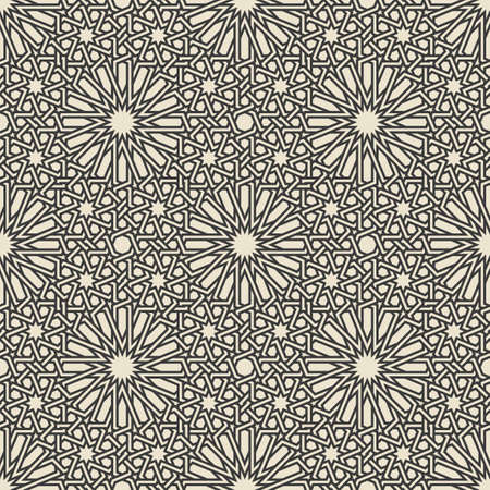 Traditional Arabic Islamic geometric seamless pattern. Vector illustration