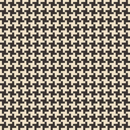 Black and white abstract geometric seamless pattern. Vector illustration