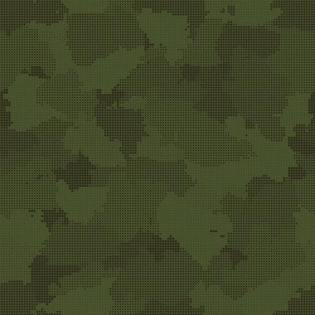 Green pixel camouflage seamless pattern. Vector illustration Illustration