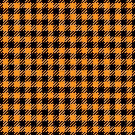 Black and orange houndstooth seamless pattern. Vector illustration Illustration