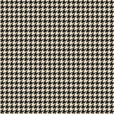 Black and white houndstooth seamless pattern. Vector illustration