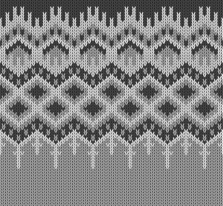 Icelandic sweater knitting Lopapeysa border seamless pattern. Vector illustration Illustration